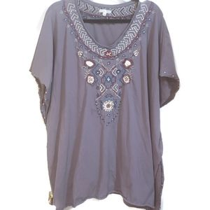 Lg Caite blue embroidered blouse